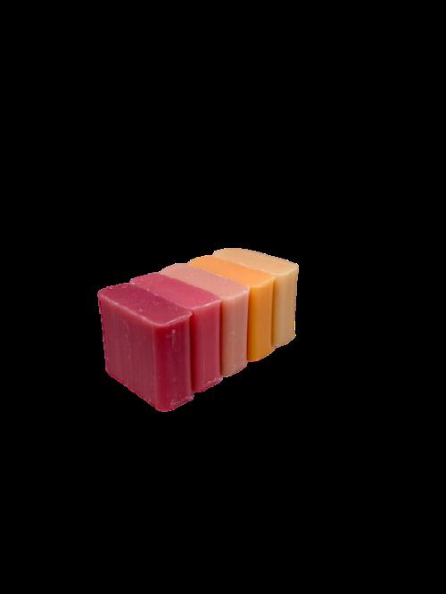 zeep met de geur van Kers-Passievrucht-Rose-Meloen-Jasmijn