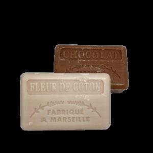 Savon de marseille fleur de coton + chocolade
