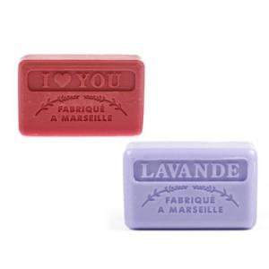 I love you + lavendel zeep