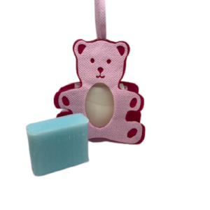 Geboorte zeepje roze