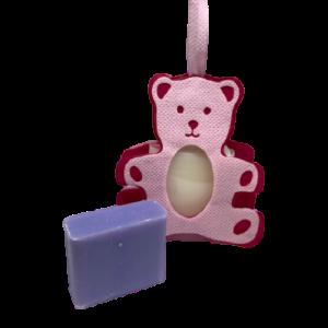 Geboorte zeepzakje roze